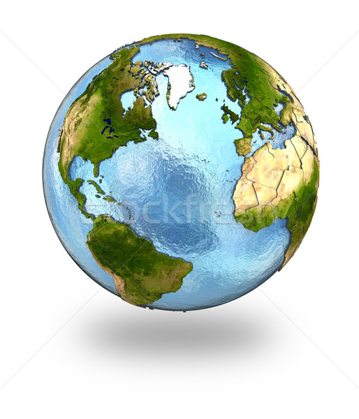 Europe and north America on Earth Stock photo © Harlekino