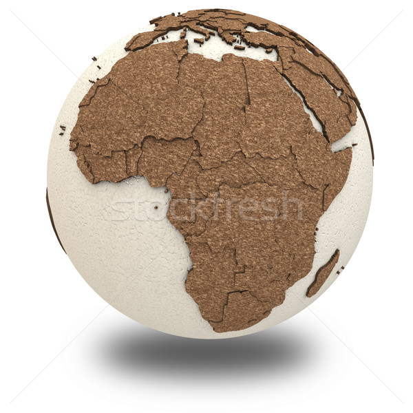 África luz terra 3D modelo planeta terra Foto stock © Harlekino