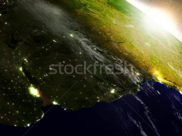 Uruguai espaço nascer do sol região ilustração 3d Foto stock © Harlekino
