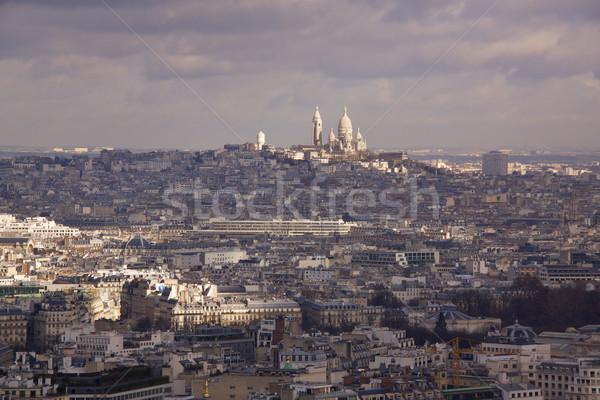 View of Paris towards Sacre Coeur Stock photo © Harlekino