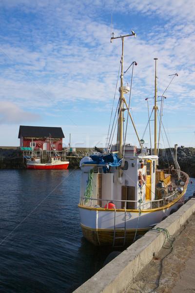 Norweski tradycyjny portu Norwegia Zdjęcia stock © Harlekino
