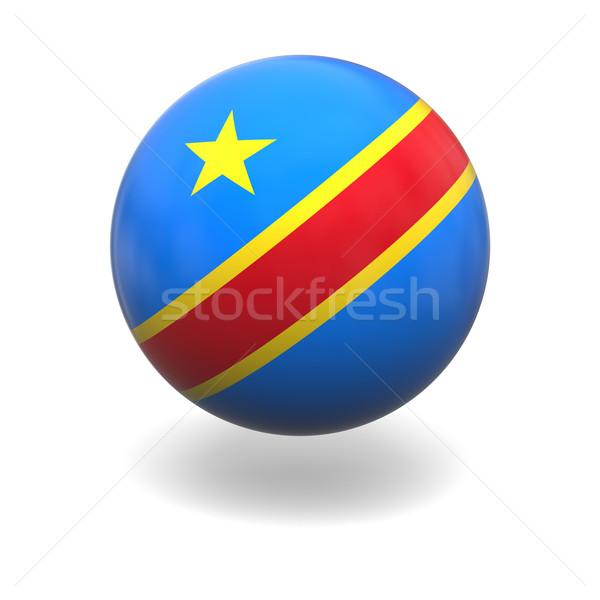 Demokratyczny republika Congo banderą sferze odizolowany Zdjęcia stock © Harlekino