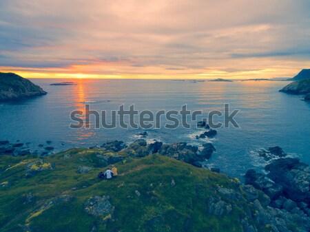 Midnight sun on Vesteralen Stock photo © Harlekino