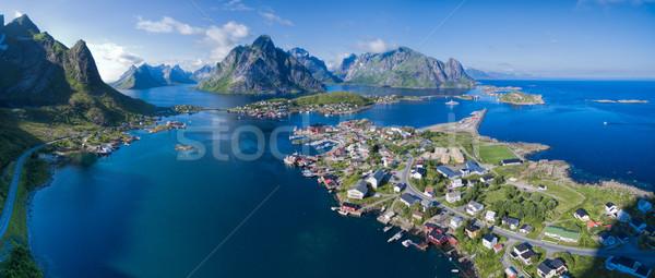 Norway aerial panorama Stock photo © Harlekino
