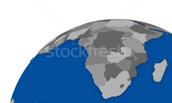 Güney Afrika toprak siyasi harita dünya Afrika Stok fotoğraf © Harlekino