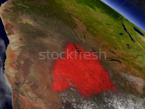 Botswana espace rouge 3d illustration Photo stock © Harlekino