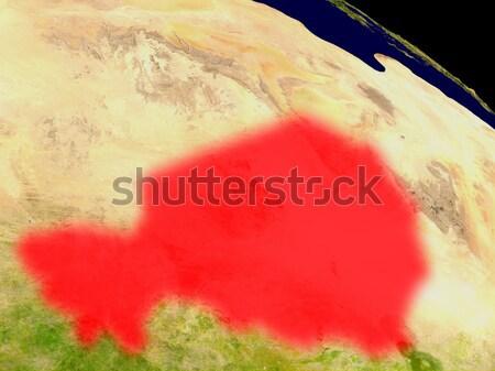 Burkina uzay kırmızı 3d illustration ayrıntılı Stok fotoğraf © Harlekino