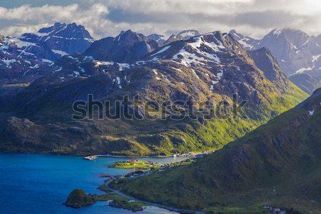Norwegian fjords Stock photo © Harlekino
