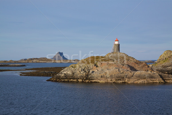 Lighthouse on norwegian coast Stock photo © Harlekino