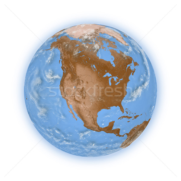 North America on planet Earth Stock photo © Harlekino