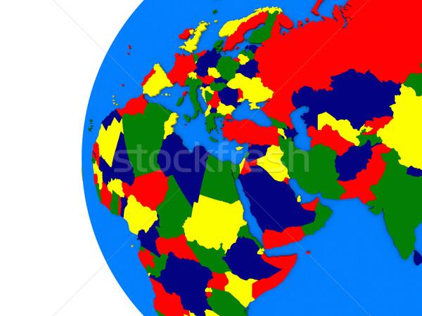 Regione politico mondo illustrazione bianco mappa Foto d'archivio © Harlekino