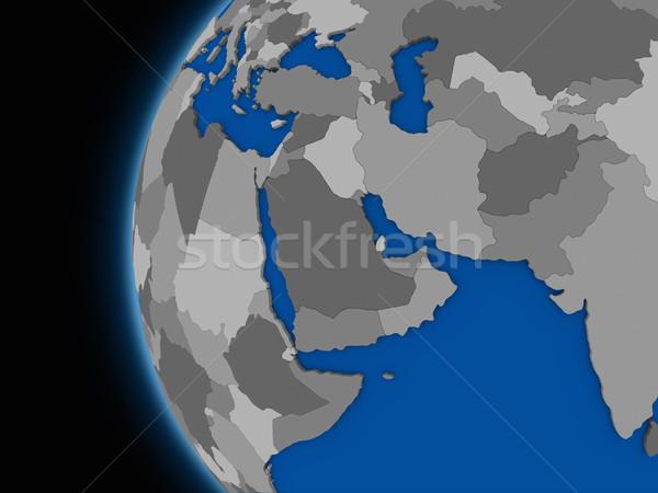 Medio Oriente regione politico terra illustrazione mondo Foto d'archivio © Harlekino