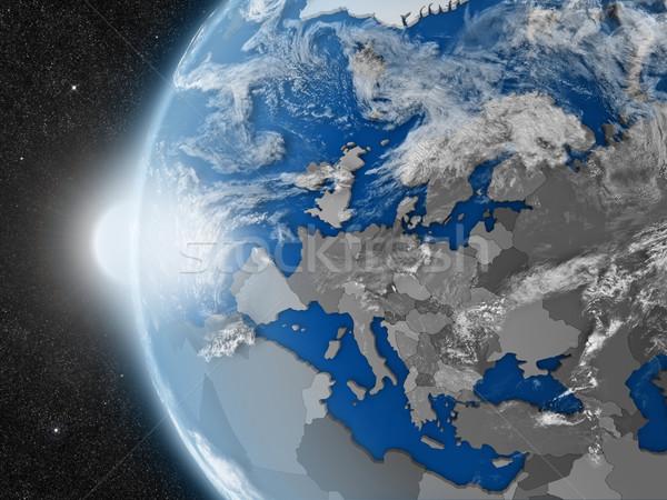 European continent from space Stock photo © Harlekino