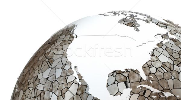 North America on translucent Earth Stock photo © Harlekino