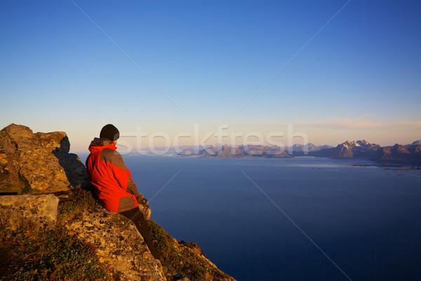 Hiking on Lofoten Stock photo © Harlekino