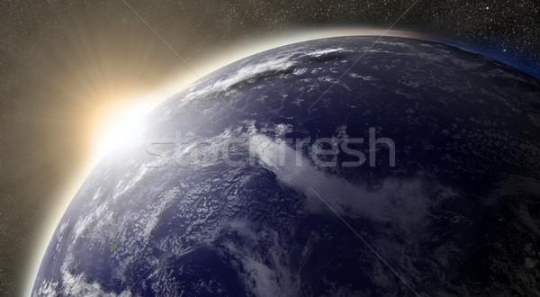 Sun over Pacific ocean Stock photo © Harlekino