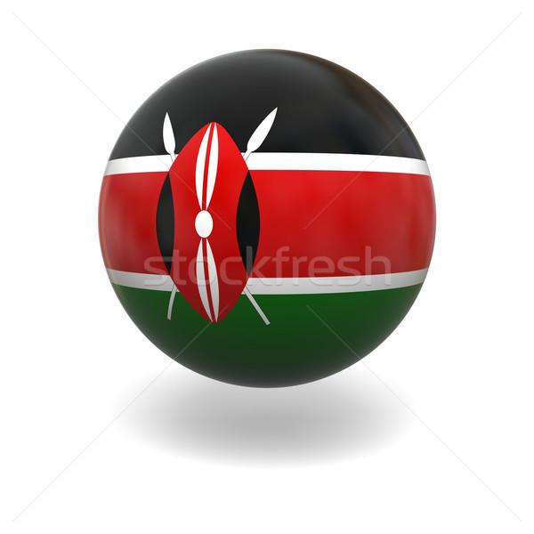 Kenyan flag Stock photo © Harlekino