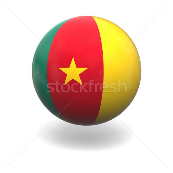 Камерун флаг сфере изолированный белый Сток-фото © Harlekino