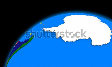 Antarctica on planet Earth political map Stock photo © Harlekino