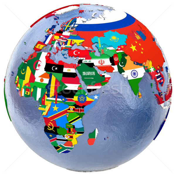 Político mapa do mundo mapa europa África oriente médio Foto stock © Harlekino