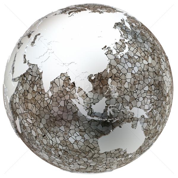 Азии полупрозрачный земле металлический модель Сток-фото © Harlekino