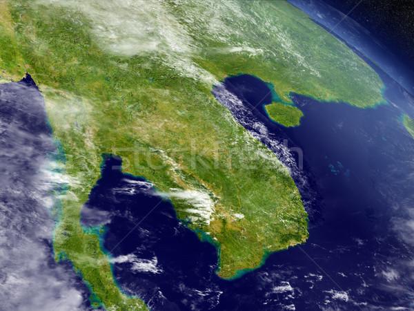 Лаос Камбоджа пространстве регион орбита 3d иллюстрации Сток-фото © Harlekino