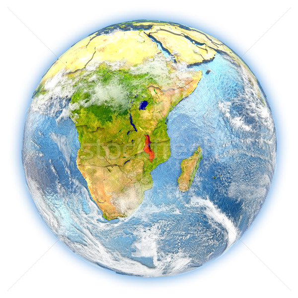 Malawi on Earth isolated Stock photo © Harlekino