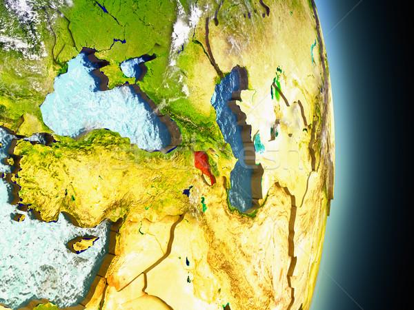 アルメニア 赤 スペース モデル 軌道 3次元の図 ストックフォト © Harlekino