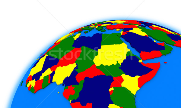 central Africa on globe political map Stock photo © Harlekino