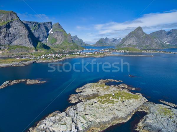 Reine fishing town Stock photo © Harlekino