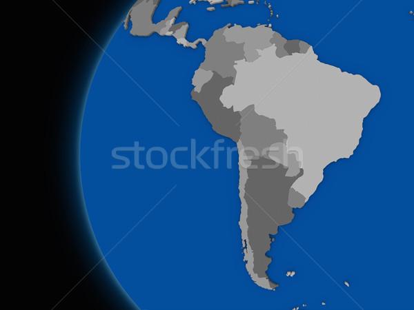 Continente politico terra illustrazione mondo Foto d'archivio © Harlekino