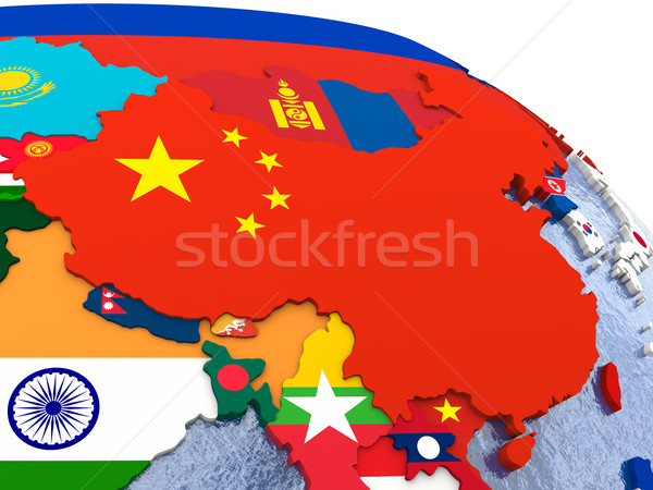 China on political map Stock photo © Harlekino