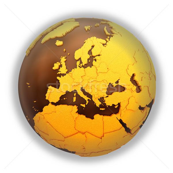 ヨーロッパ チョコレート 地球 モデル 地球 甘い ストックフォト © Harlekino