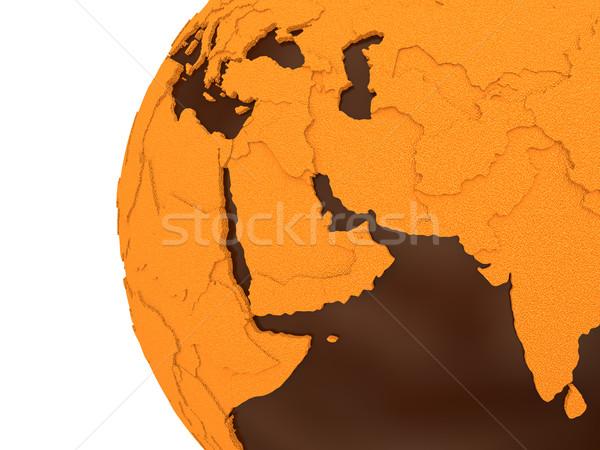 Orta Doğu çikolata toprak bölge model dünya gezegeni Stok fotoğraf © Harlekino