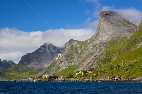 Pitoresco norueguês panorama montanha acima Foto stock © Harlekino