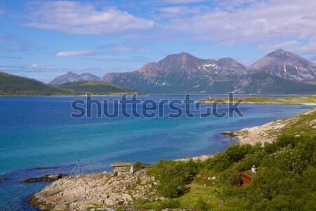 Scenery on island of Senja Stock photo © Harlekino