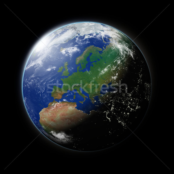Europe on planet Earth Stock photo © Harlekino