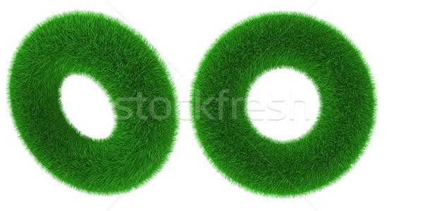 Füves tórusz tárgy fedett fű izolált Stock fotó © Harlekino