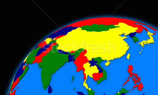 southeast Asia on planet Earth political map Stock photo © Harlekino