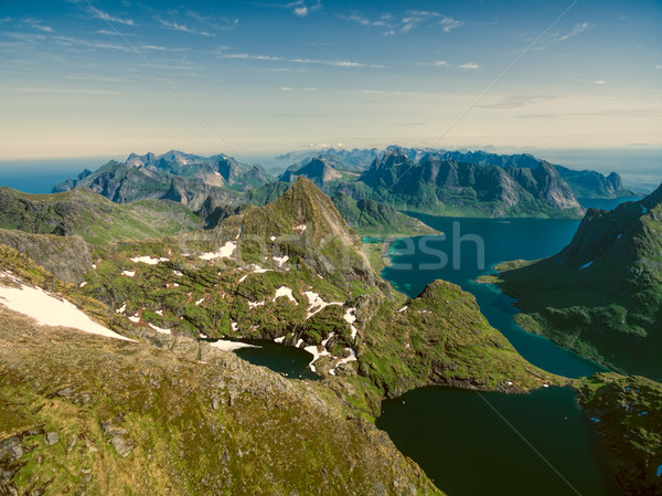 Lofoten peaks Stock photo © Harlekino