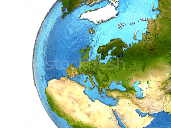 European continent on Earth Stock photo © Harlekino