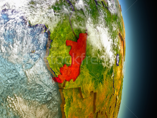 Congo Rood ruimte model 3d illustration Stockfoto © Harlekino