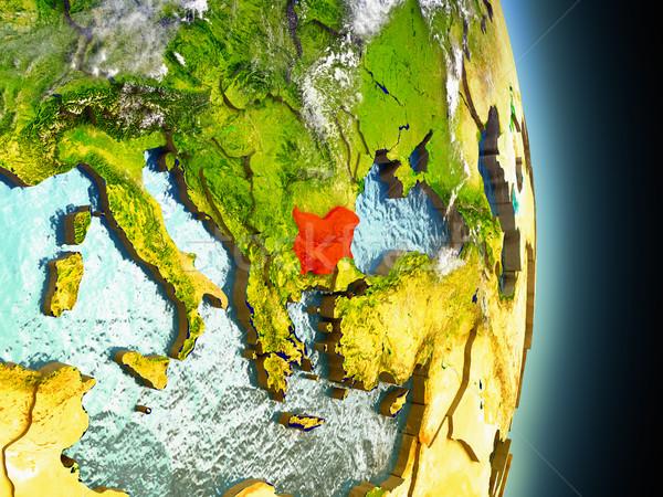 Bulgaria rosso spazio modello illustrazione 3d Foto d'archivio © Harlekino