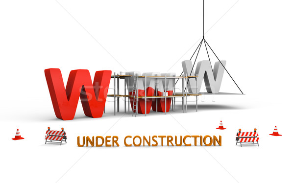 сайт строительство простой письма WWW окрашенный Сток-фото © Harlekino
