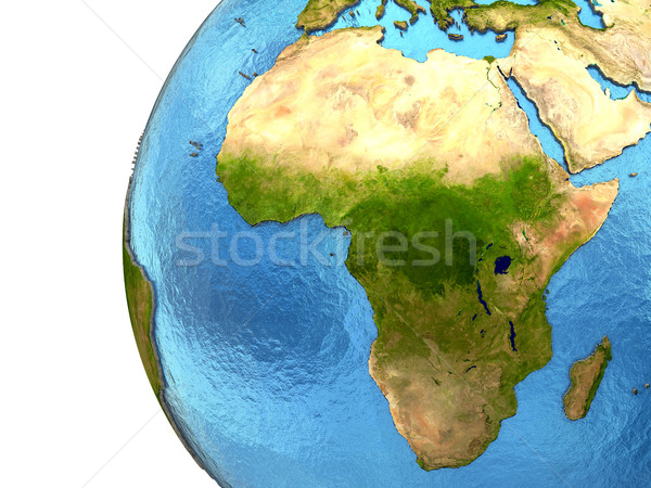 Stock photo: African continent on Earth