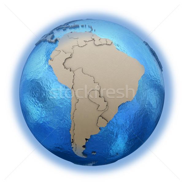 モデル 地球 3D 青 地球 ストックフォト © Harlekino