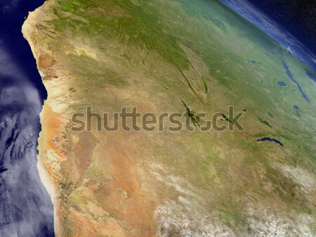Namibie Botswana espace région 3d illustration Photo stock © Harlekino