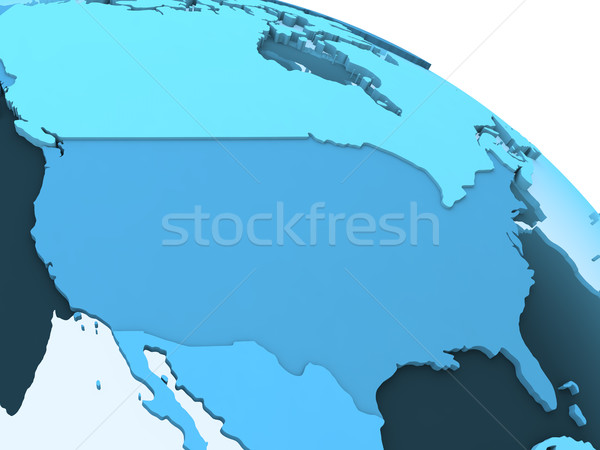 USA on translucent Earth Stock photo © Harlekino