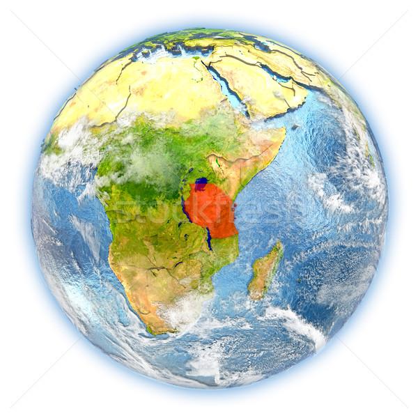 Tanzanya toprak yalıtılmış kırmızı dünya gezegeni 3d illustration Stok fotoğraf © Harlekino