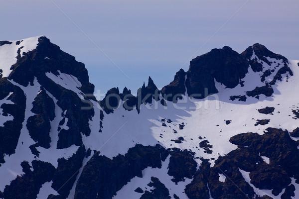 Forte montagnes Norvège Europe panorama Photo stock © Harlekino